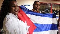 Bienvenidos a Cuba y sientan en lo más hondo los versos del himno que hoy todos hemos cantado: La patria los contempla orgullosa