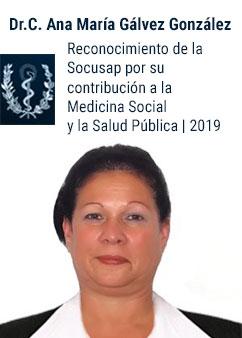 Recibe la profesora Ana María Gálvez González reconocimiento por su contribución a la Medicina Social y a la Salud Pública