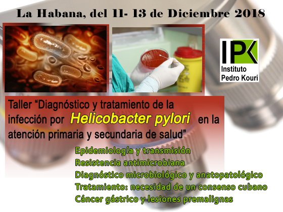 """Taller """"Diagnóstico y tratamiento de la infección por Helicobacter pylori en la atención primaria y secundaria de salud"""""""