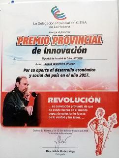 Premio Ciencia y Técnica. CUBA